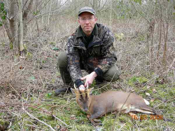 Man with Muntjac cull